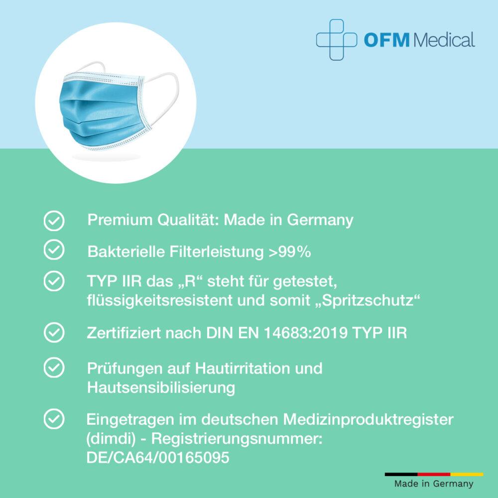 OFM medizinischer mundschutz typ IIR Detail3